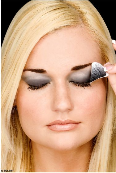 Smoky Eye Makeup Application, 2- Then, start applying an eye shadow primer