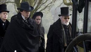 Benicio del Toro, Emily Blunt y Anthony Hopkins en El hombre lobo