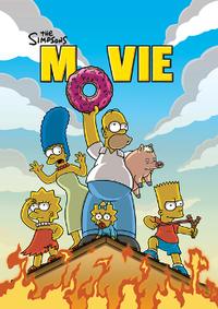 Cartel original de Los Simpson - La película