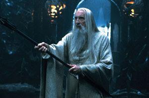 Christopher Lee en El Señor de los Anillos: La Comunidad del Anillo