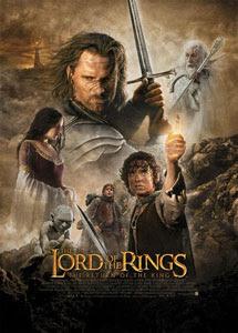 Cartel original de El Señor de los Anillos: El Retorno del Rey