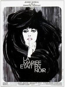 Cartel original de La novia vestía de negro