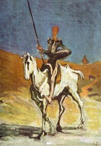 Don Quijote según Honoré Daumier