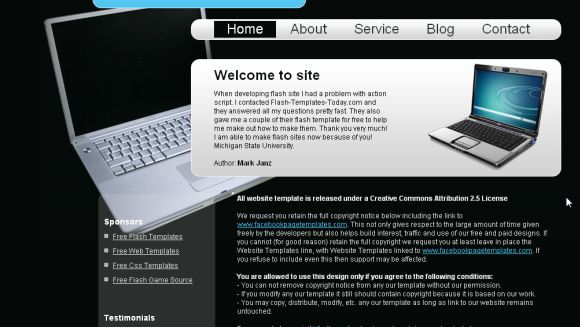 Free Computers World Black CSS Template