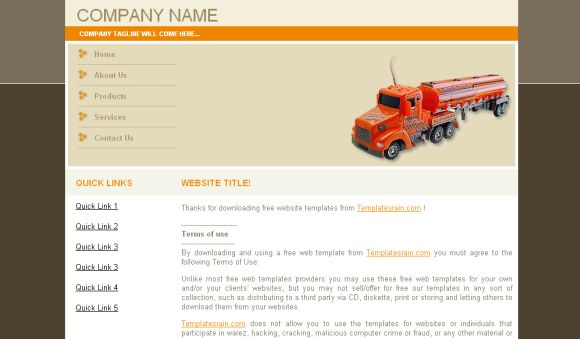 Free CSS Transportation Company Web2.0 Template