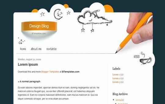 Free Blogger Design Blog Web2.0 Template