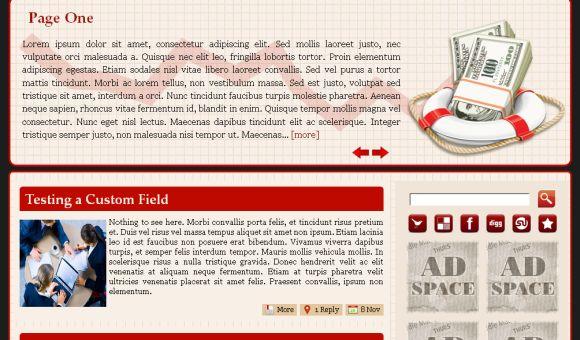 Free Rescue Company Red Wordpress Theme