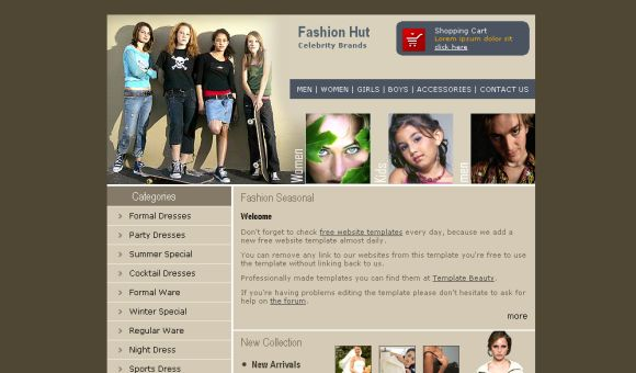 Fashion Store HTML Website Template
