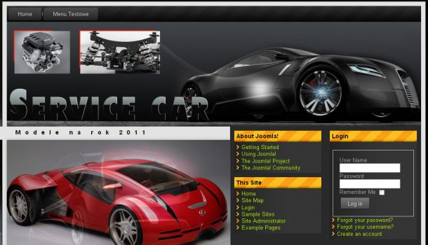 Automotive Black Joomla Flash Theme Template