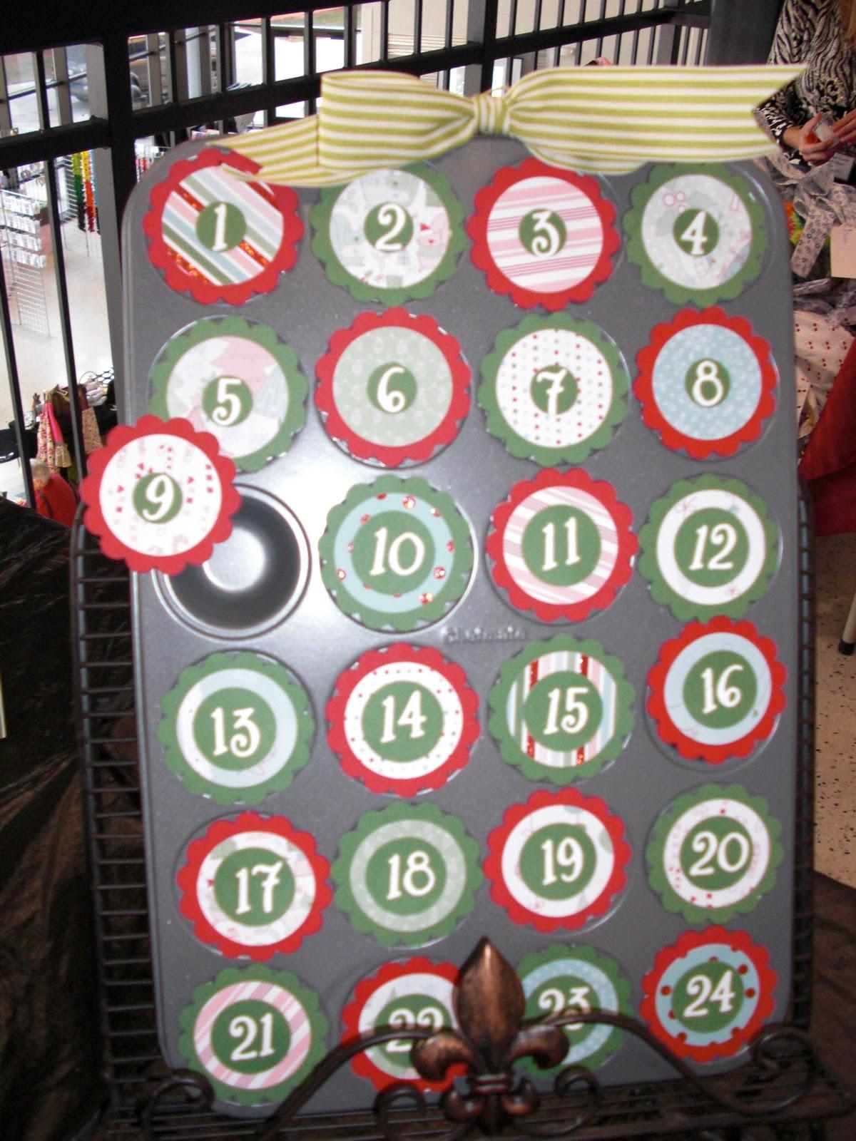 Christmas Fair Craft Ideas Part - 33: Mini Muffin Tin - Countdown To Christmas