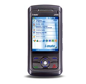 i-mate JAMA phone has hand writing recognition