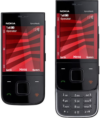 Nokia 5330 Xpress Music 3G phone which supports three GSM and 3G bands