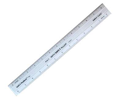 Foot Ruler Actual Size