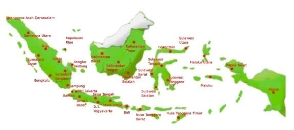 peta indonesia1021 Tahukah Anda Jumlah Pulau di Indonesia?