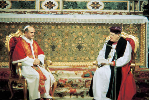 Papa e Arcebispo Michael Ramsey