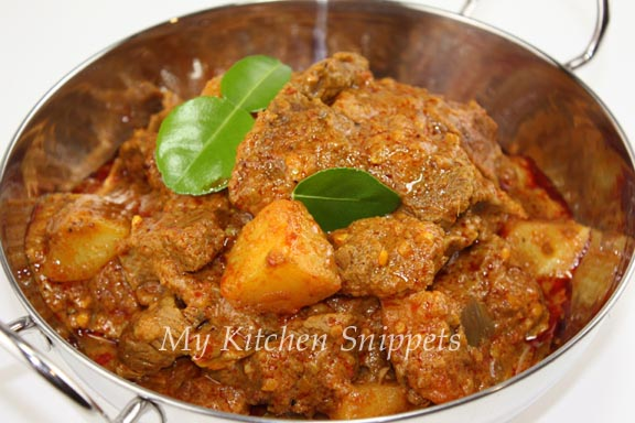 My Kitchen Snippets: Beef Rendang/Dry Beef Curry