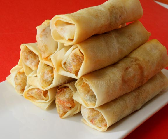Diary Foods: Baked Spring Rolls Recipes