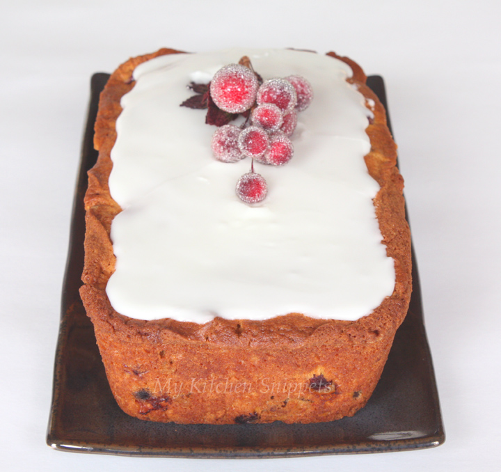 My Kitchen Snippets: Cranberry Orange Walnut Cake