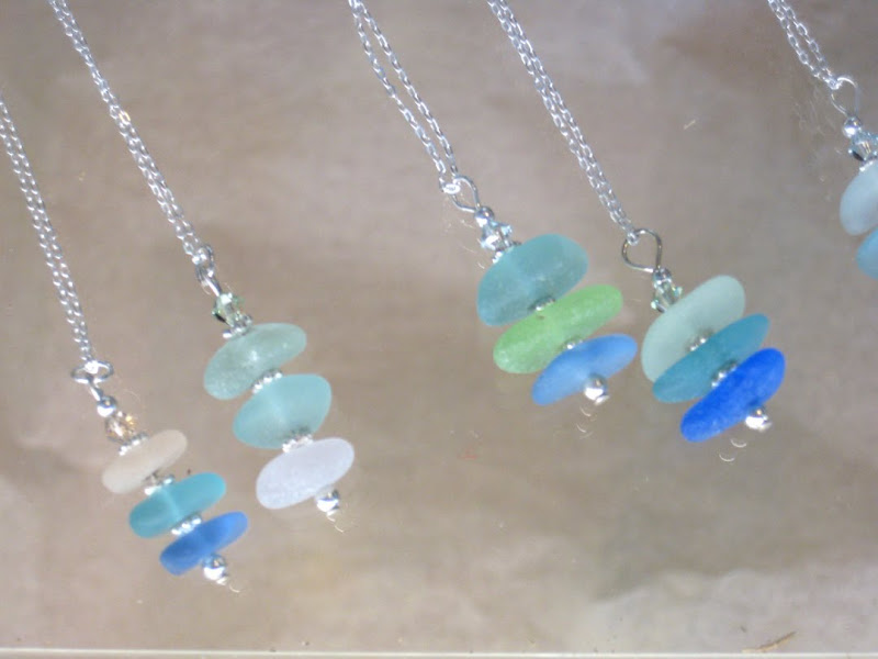 Glass Earrings on Seafarer Gift Shop New Beach Glass Jewelry Just In title=