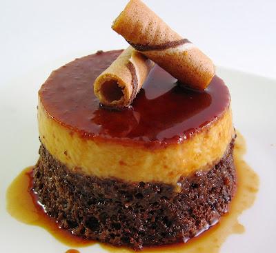 Caramel Custard Chiffon Cake Recipe