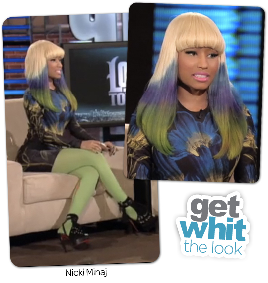 nicki minaj tattoo on her back. tattoo nicki minaj shoes.