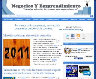 Presentación del nuevo diseño del blog Negocios y emprendimiento y ganador de hosting y nombre de dominio