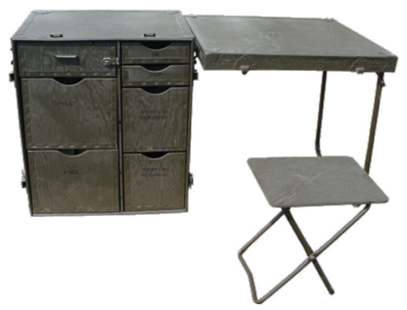 the things we like make do military surplus field table. Black Bedroom Furniture Sets. Home Design Ideas