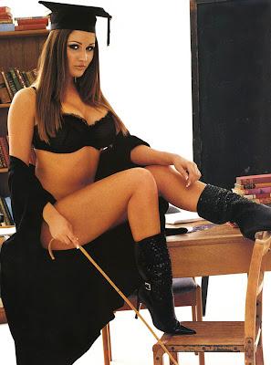 Michelle bellini black bikini