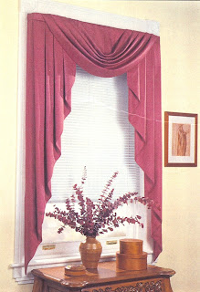 Modern bedding valances and swags curtains