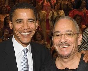 Barack Hussein Obama and Reverend Jeremiah Wright enjoy a blissful moment of anti-Semitism