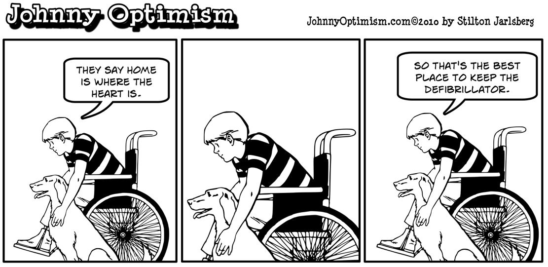 Johnny Optimism, johnnyoptimism, defibrillator