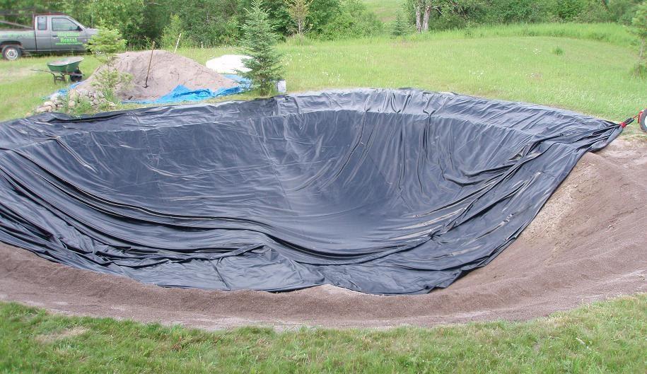 New tarps world video pond liner installation using for Pond liner material