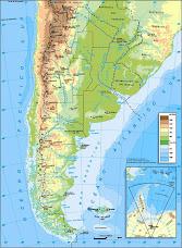 Mapa fìsico de nuestro país
