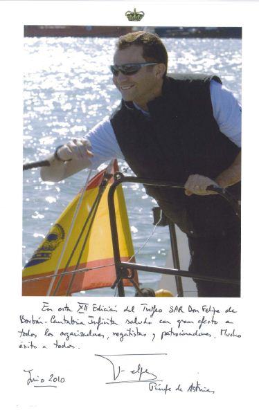 Foto usada en el saluda de la XII edición del Trofeo SAR Don Felipe de Borbón en 2010
