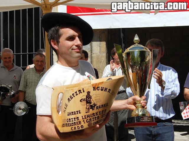 Miguel Ángel Iriarte Seguín ganador del concurso de quesos