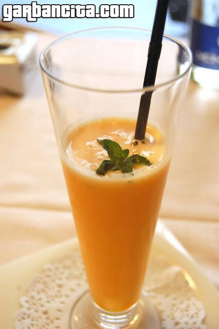 Sorbete de mandarina y vodka