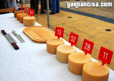 Los ocho quesos presentados a concurso