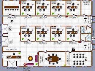 Colmoda plano piso de oficinas for Planos de oficinas administrativas