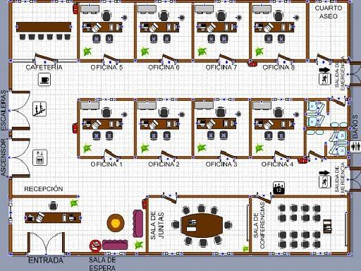 Colmoda plano piso de oficinas for Distribucion de oficinas pequenas