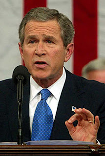 Bush lying on Tuesday, January 28, 2003, in his State of the Union speech