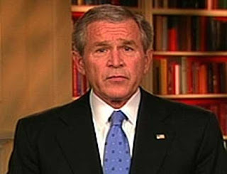 Bush looking hapless during his Surge speech, January 10, 2007