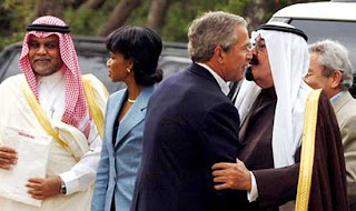 Is it love or infatuation? Or maybe something else. Bush is closer to his Saudi friends than he is to the American people.