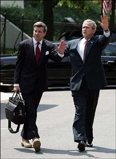 "Bush with the corrupt and incompetent ""viceroy"" of Iraq Paul Bremer"