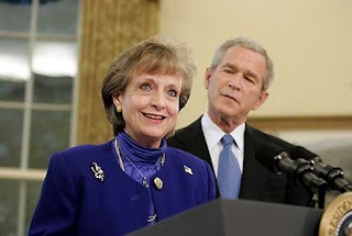 Bush with Supreme Court Nominee Harriet Miers