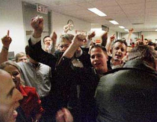 "The ""Republican thugs"" engaging in the ""Brooks Brothers Riot"", November 19, 2000, intimidating the ballot recounters in Florida"