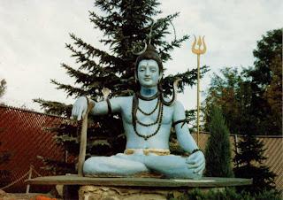 Statue of Lord Shiva at the Muktananda ashram in South Fallsburg, New York, 1981.