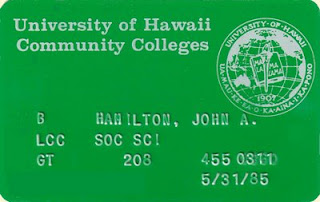 This is my ID card from when I taught Economics at Leeward Community College in Oahu