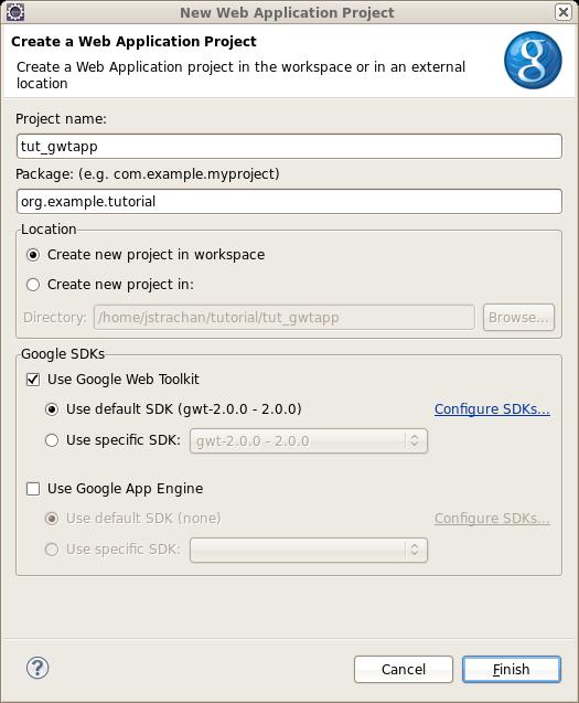 Eclipse Google App Engine Tutorial: GWT Integration: Walkthrough: Integrating GWT With JBoss 5