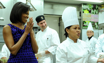 Chef Comerford with the US First Lady