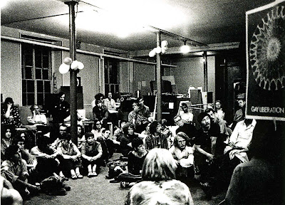 Gay+Liberation+Meeting,+NYC+1970 Gay Liberation Front meeting in 1970 at the Washington Square Methodist ...